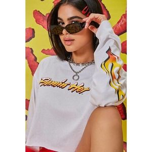 Forever 21 Flamin' Hot Cheetos Cut Off Tee 3X